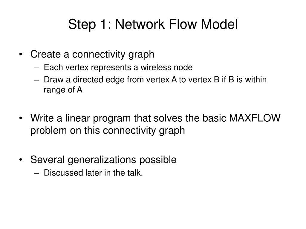 Step 1: Network Flow Model