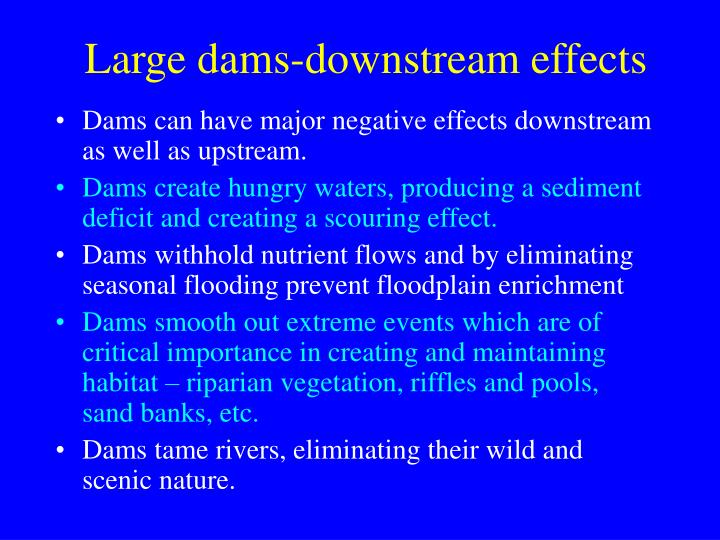 Large dams-downstream effects