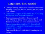 large dams flow benefits
