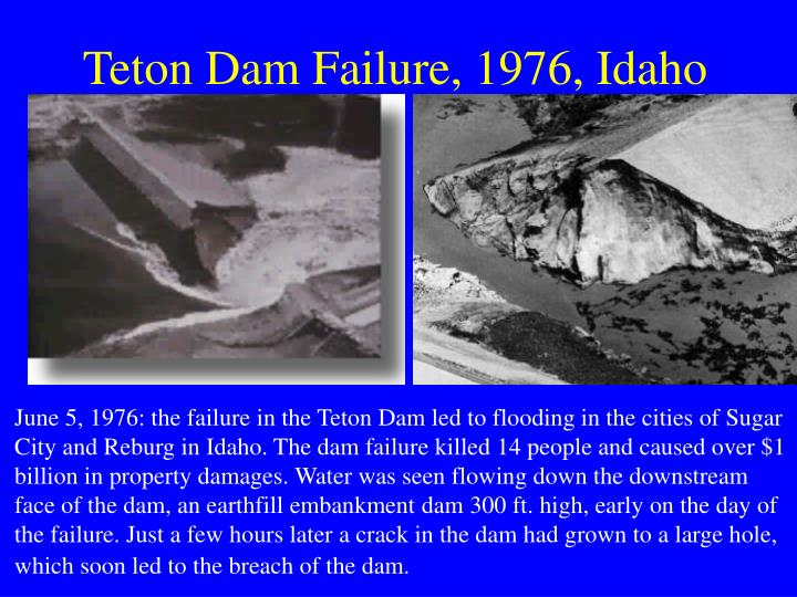 Teton Dam Failure, 1976, Idaho