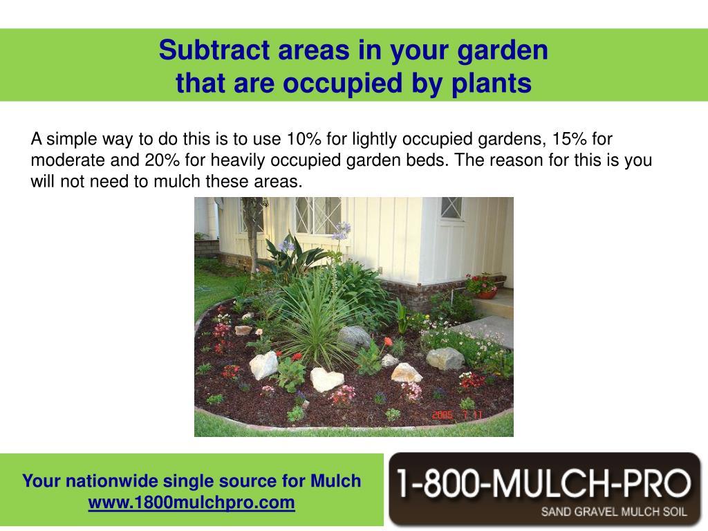 Subtract areas in your garden