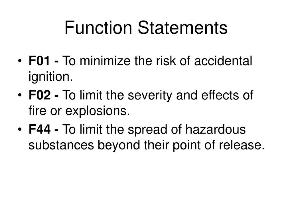 Function Statements