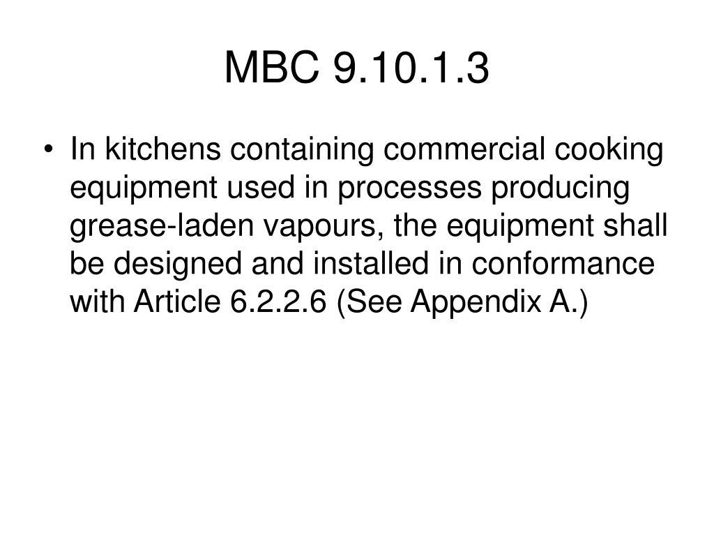 MBC 9.10.1.3