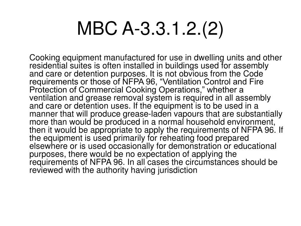 MBC A-3.3.1.2.(2)