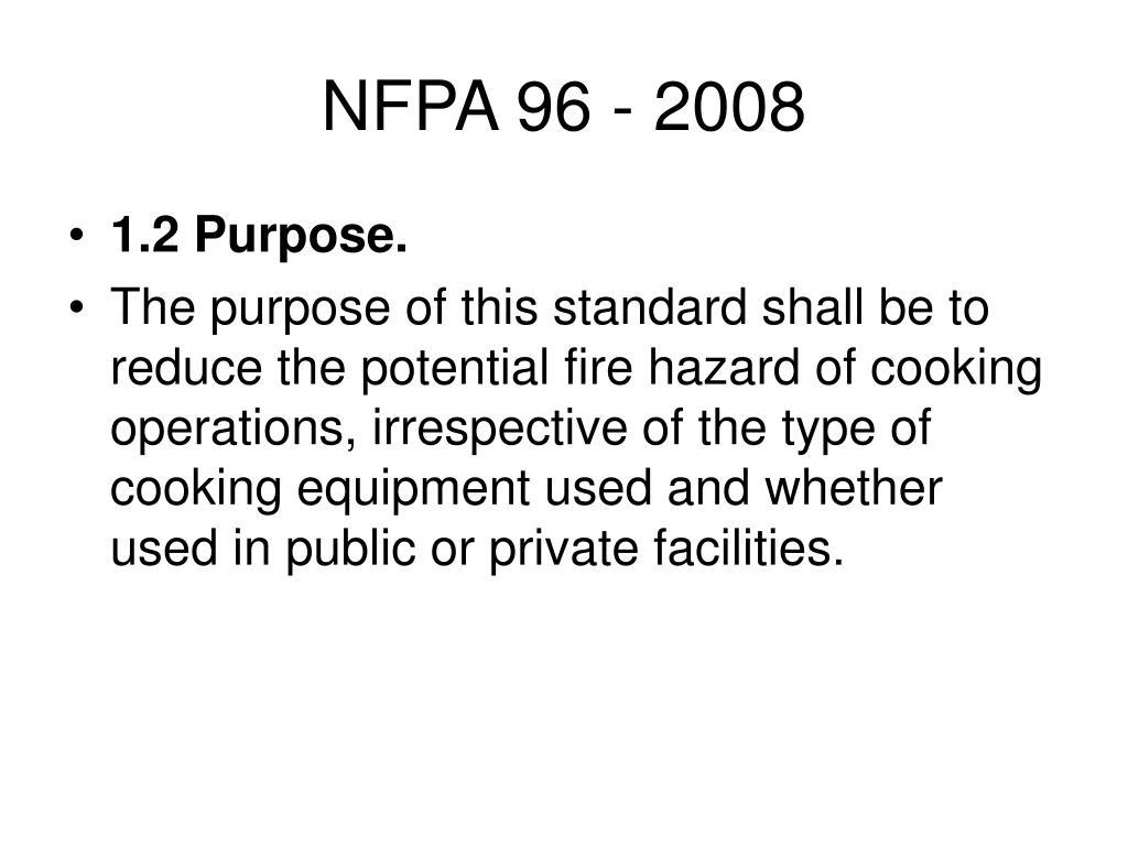 NFPA 96 - 2008