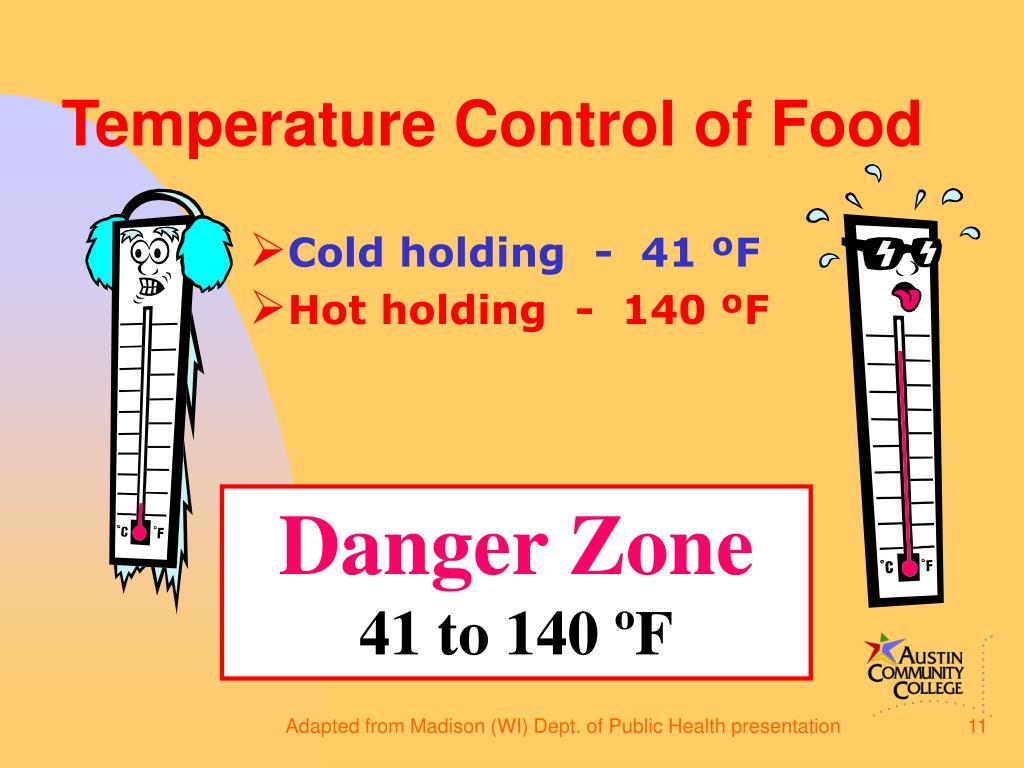 Temperature Control of Food