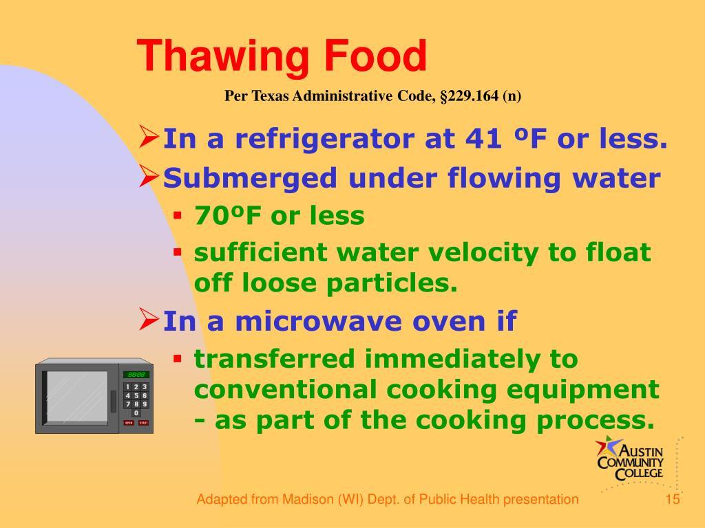 Thawing Food