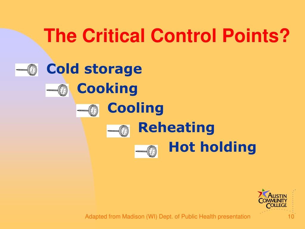 The Critical Control Points?