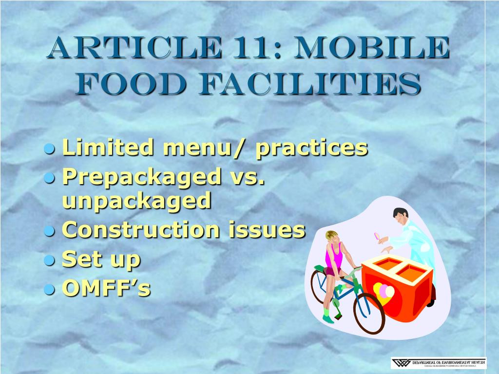 Article 11: Mobile Food Facilities