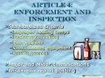 article 4 enforcement and inspection6
