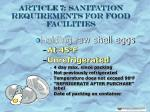 article 7 sanitation requirements for food facilities14