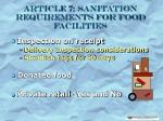 article 7 sanitation requirements for food facilities17