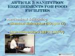 article 7 sanitation requirements for food facilities23