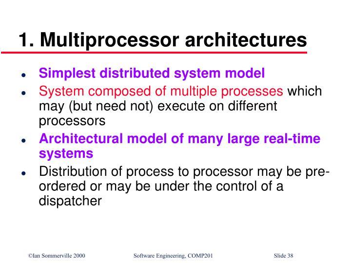 1. Multiprocessor architectures