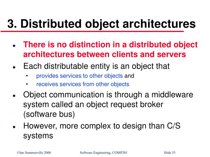 3. Distributed object architectures