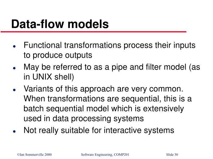 Data-flow models