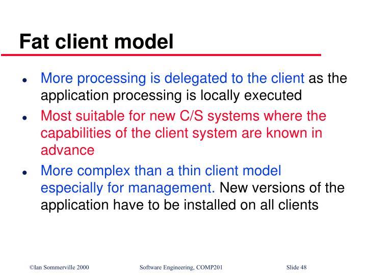 Fat client model
