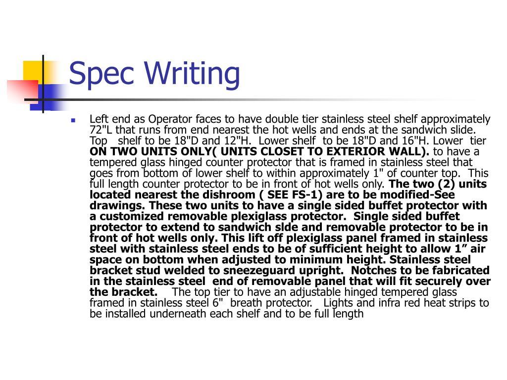 Spec Writing