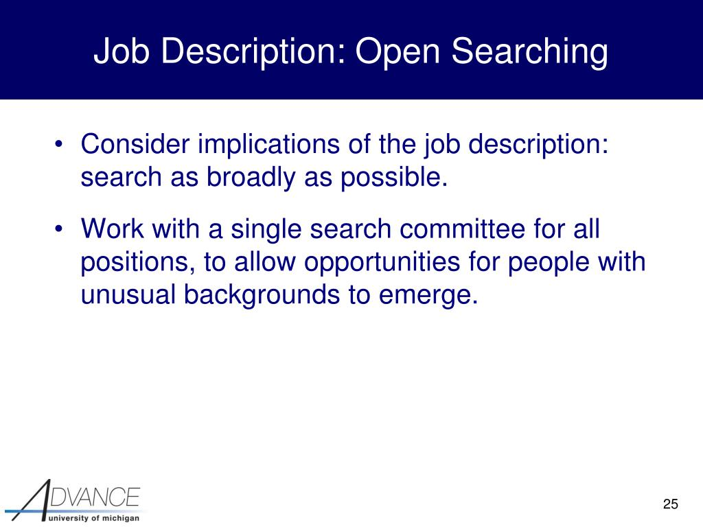 Job Description: Open Searching