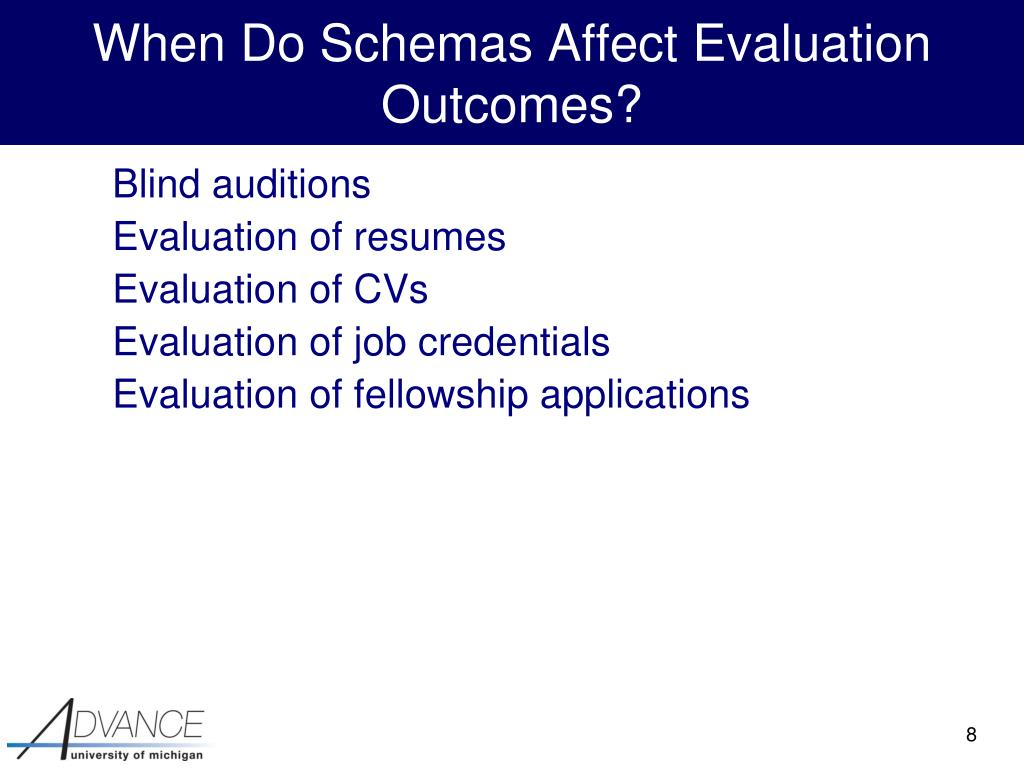 When Do Schemas Affect Evaluation Outcomes?