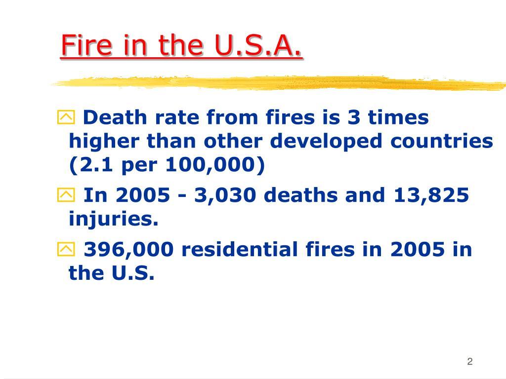 Fire in the U.S.A.