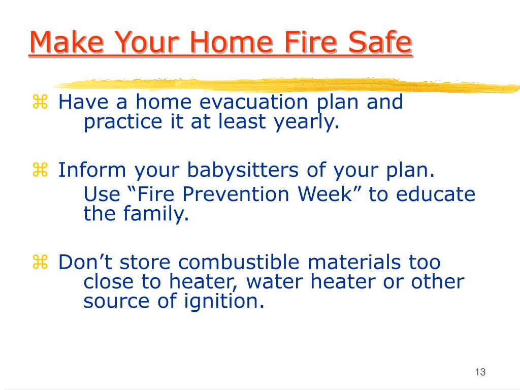 Make Your Home Fire Safe