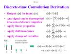 discrete time convolution derivation