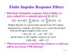 finite impulse response filters24