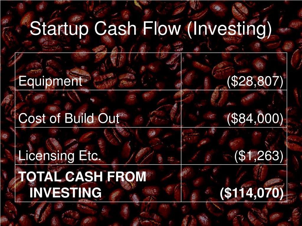 Startup Cash Flow (Investing)