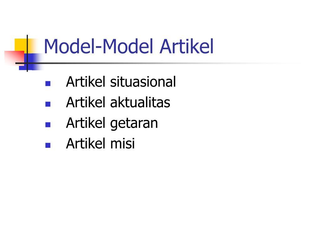 Model-Model Artikel