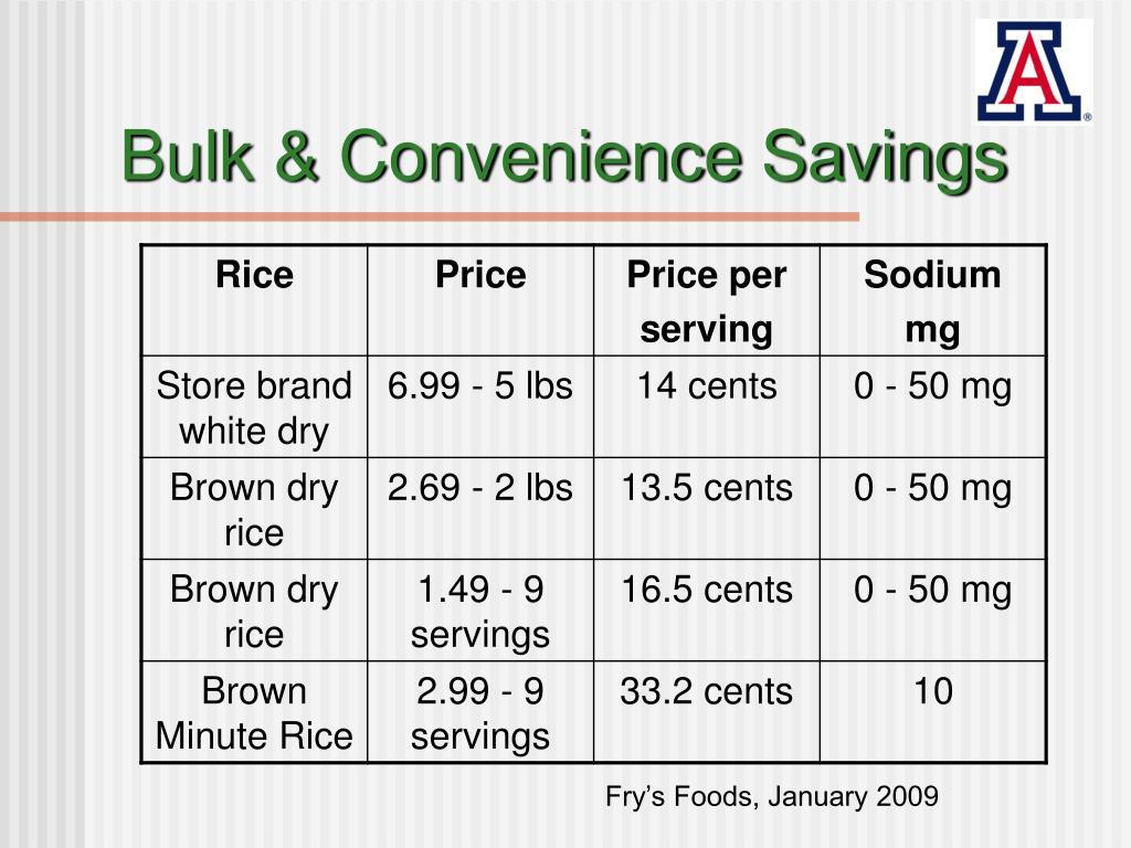 Bulk & Convenience Savings
