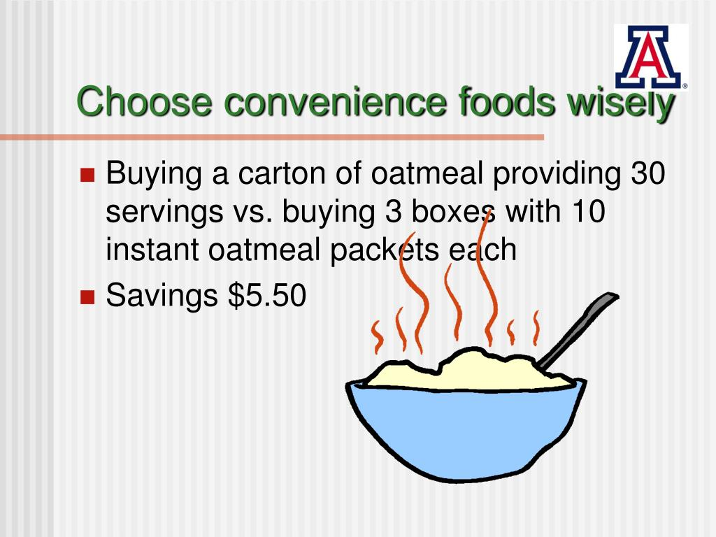 Choose convenience foods wisely