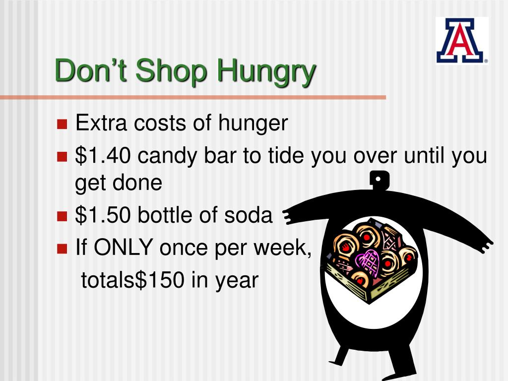 Don't Shop Hungry