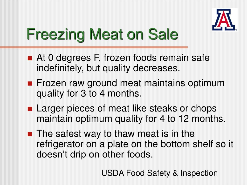 Freezing Meat on Sale