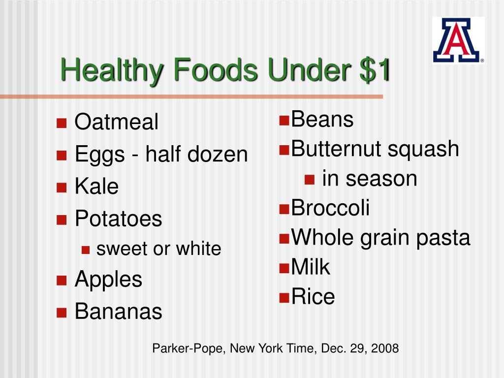 Healthy Foods Under $1