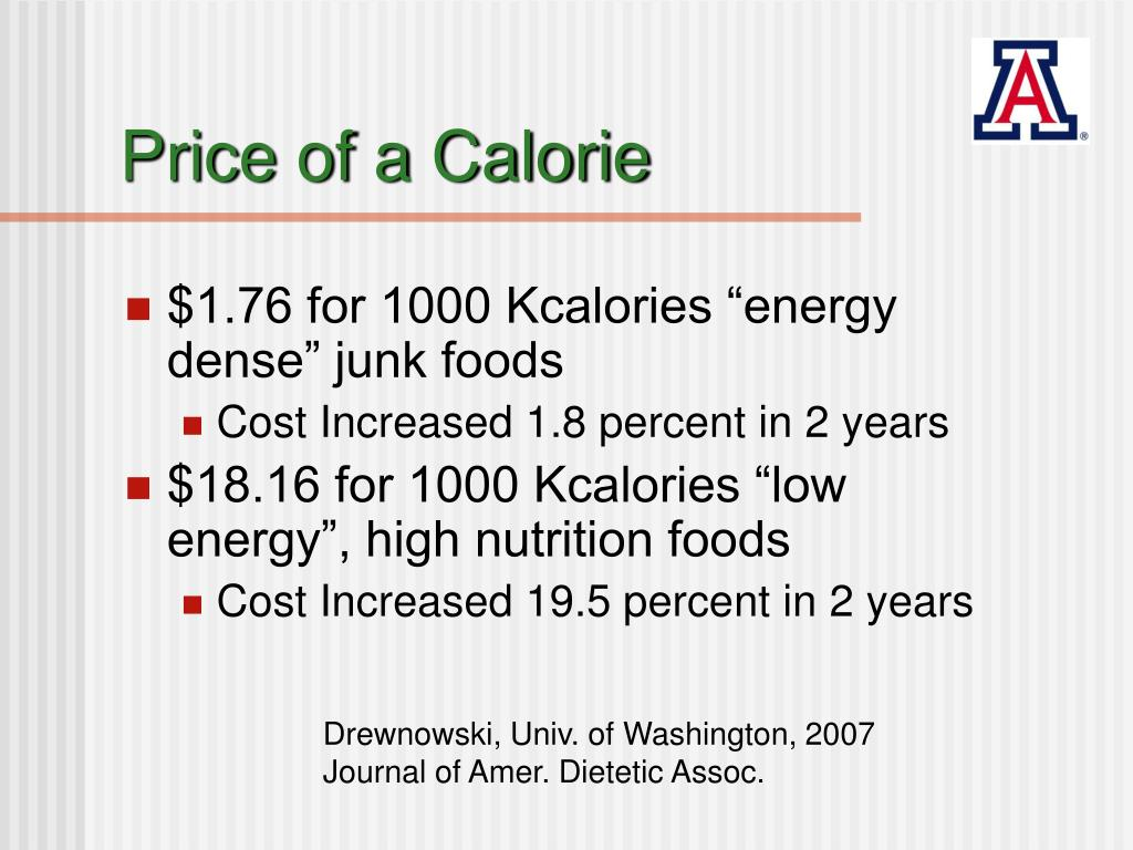 Price of a Calorie