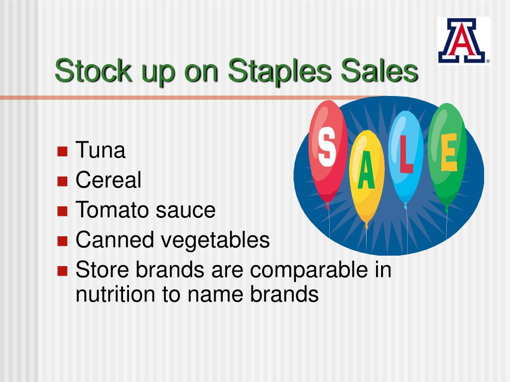 Stock up on Staples Sales