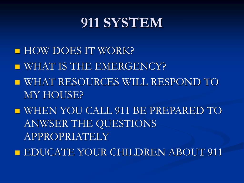 911 SYSTEM