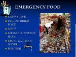 emergency food