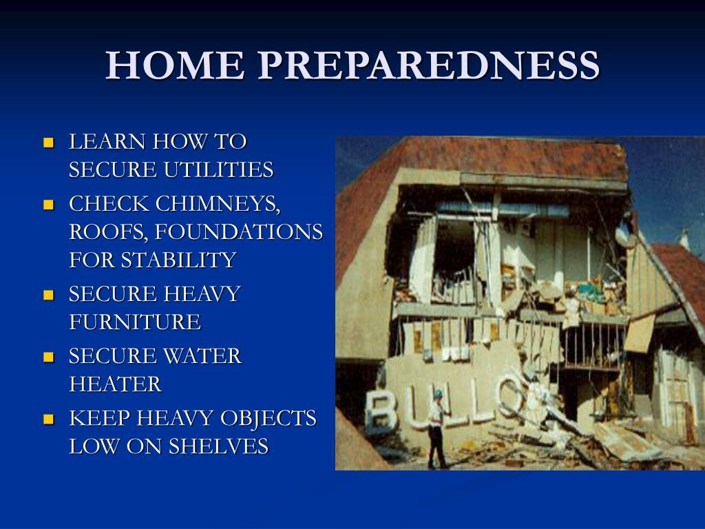 HOME PREPAREDNESS