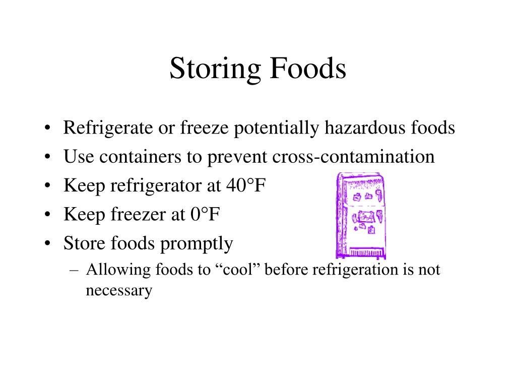 Storing Foods