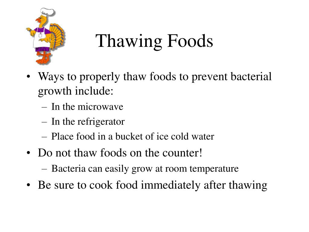 Thawing Foods