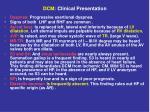 dcm clinical presentation