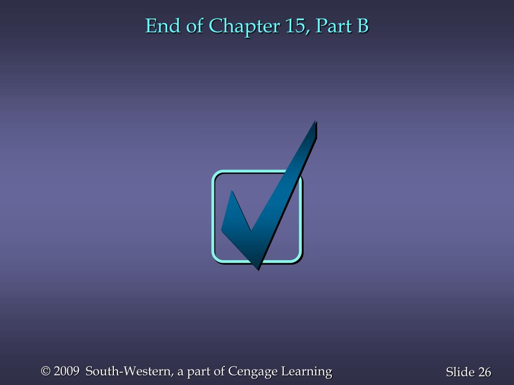 End of Chapter 15, Part B