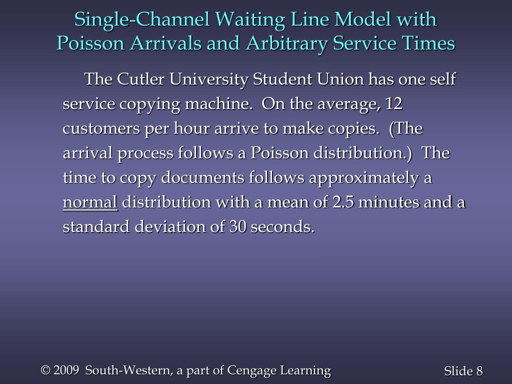Single-Channel Waiting Line Model with Poisson Arrivals and Arbitrary Service Times