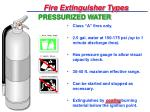 fire extinguisher types