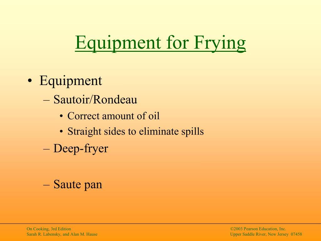 Equipment for Frying