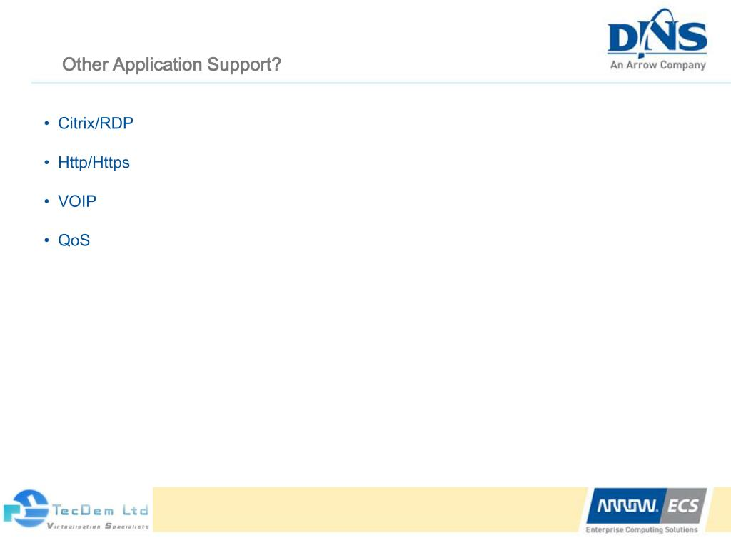 Other Application Support?