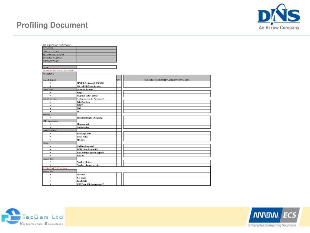 Profiling Document