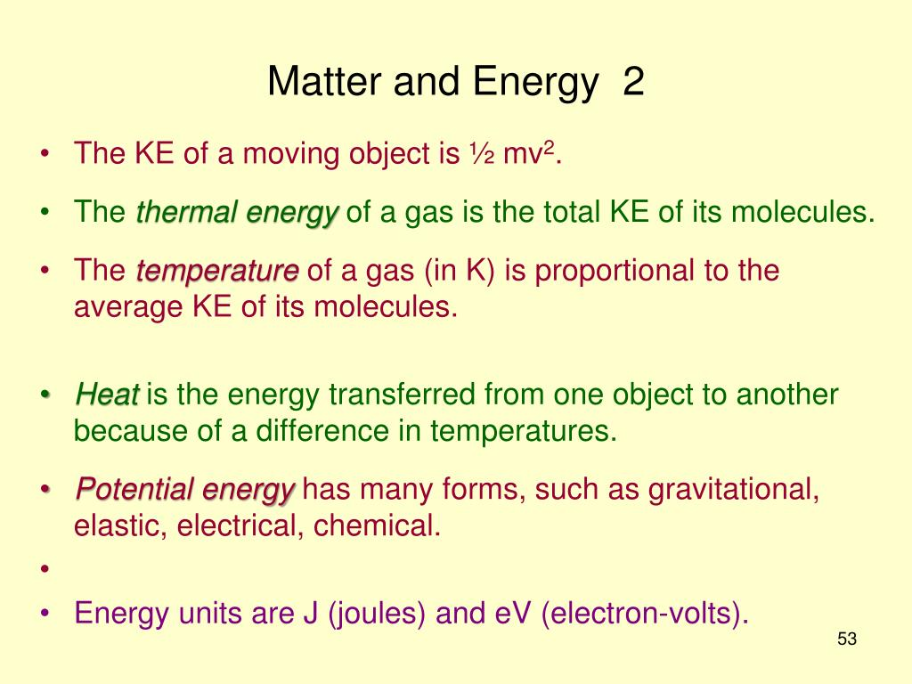 Matter and Energy  2
